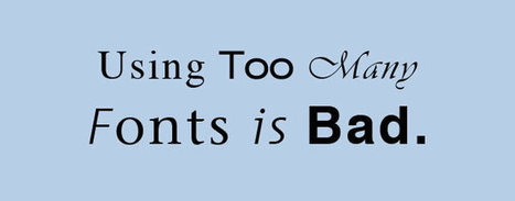 Good Font, Bad Font: 5 Ways To Tell The Gems From The Junk | Design | Scoop.it