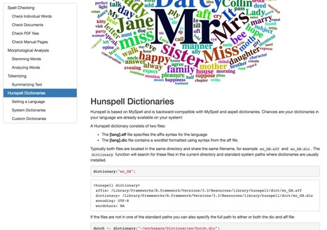 Hunspell 2.0: High-Performance Stemmer, Tokenizer, and Spell Checker for R | R for Journalists | Scoop.it