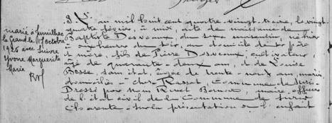 Châteauneuf et Jumilhac: L'acte de naissance de mon arrière-grand-père | Rhit Genealogie | Scoop.it