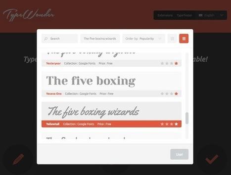 Un outil pour vous aider à choisir la Google Font qu'il vous faut - Korben | Au fil du Web | Scoop.it