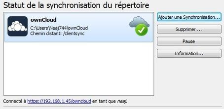 Installation et configuration d'un client ownCloud sous Windows [Tuto] | Time to Learn | Scoop.it