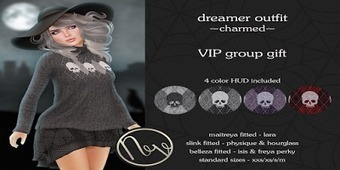 Group Gift! Tienda Neve - Dreamer Outfit - Charmed   亗 Second Life Freebies Addiction & More 亗   Scoop.it