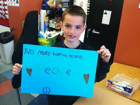"""""""No More Hurting People. Peace."""" Martin Richard, 8-year-old boy killed in Boston Marathon bombings 