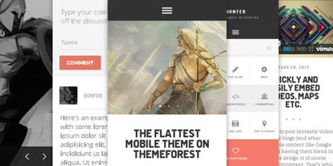 Top 31 Flat Wordpress Responsive Themes | Design Potato | 20 HTML5-CSS3 Templates for Inspiration | Scoop.it