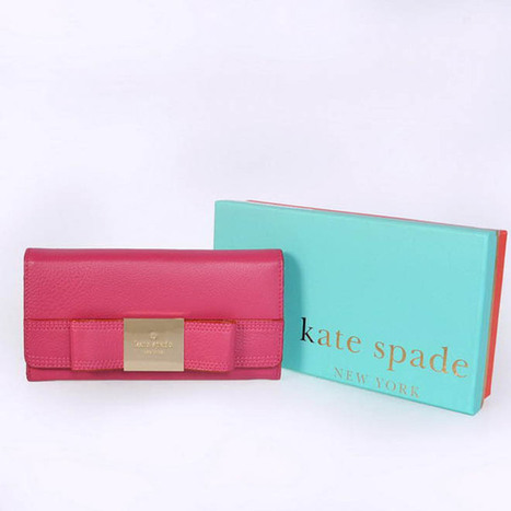 Kate Spade Primrose Hill Shannon Leather Wallet Red | my want collection | Scoop.it