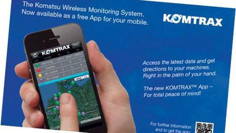 Komtrax de Komatsu disponible sur iPhone et iPad | Materiels Equipement Construction | Scoop.it