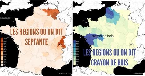 Top 10 des cartes insolites de France sur la langue française, où c'est qu'on dit quoi ? | Ressources FLE | Scoop.it