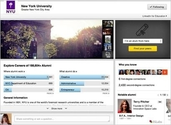 MediaPost Publications LinkedIn Launches University Pages To Attract Youth Demo 08/20/2013 | Advertising & Media | Scoop.it