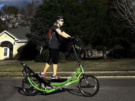 Look, on the road. It's a bike. It's an elliptical. It's ElliptiGO. - Gainesville Sun | Gear for Cyclists | Scoop.it
