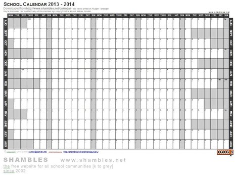 2013-2014 Academic Calendar [Word Template] | What's New on Shambles.NET | Scoop.it