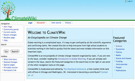 Heartland Institute launches a 'closed' climate change wiki | Leo Hickman | Environment | guardian.co.uk | Climate change challenges | Scoop.it