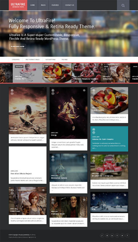 Premium WordPress Retina Responsive Blog Theme - UltraFire | WP Download | fenerbahçe | Scoop.it