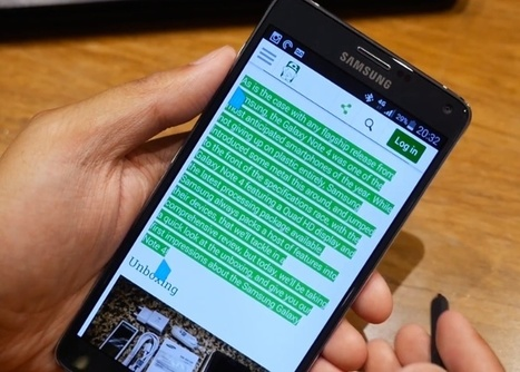 Samsung Galaxy Note 4 S Pen feature review   Samsung mobile   Scoop.it