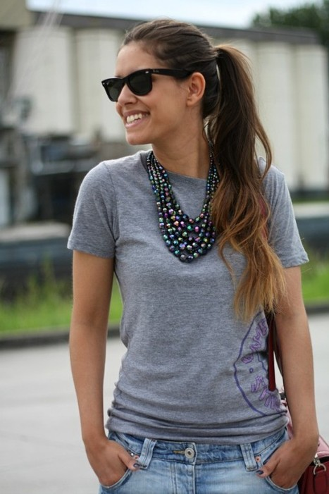 5 Stylish Ways to Spruce up a Simple T-Shirt and get Decked Up by Clara Grundy on Lucky Community | Tiger People Clothiers | Scoop.it