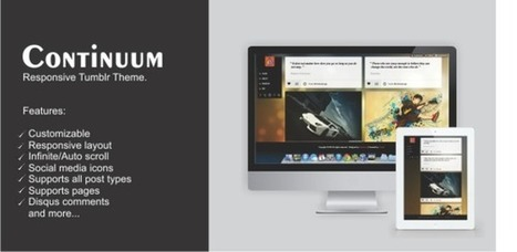 Continuum – Responsive Tumblr Theme Download | Tumblr Templates Download | Scoop.it