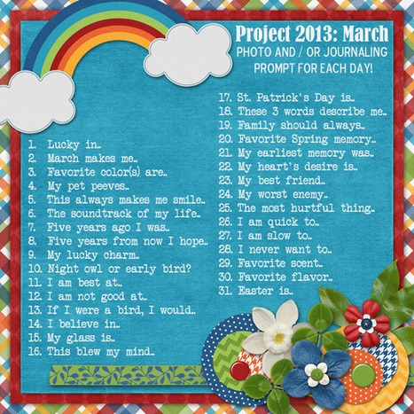 March 2013 Journal Prompts Challenge | Journal For You! | Scoop.it