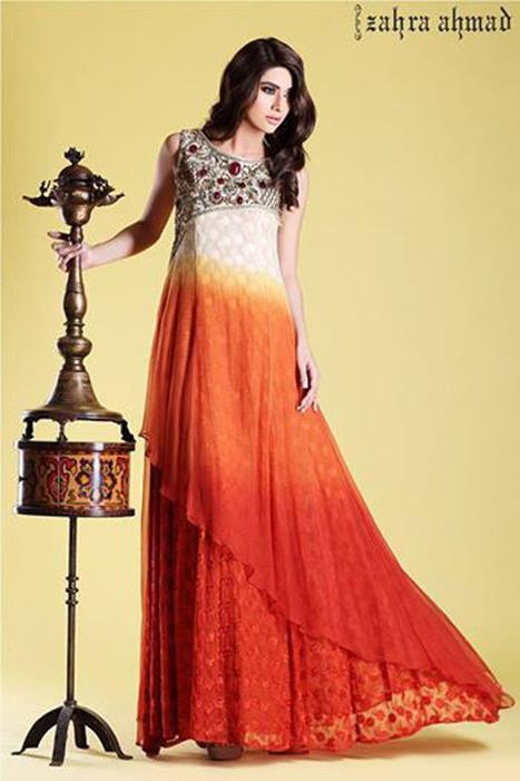 Long Fabulous Frock Designs for Women by Zahra Ahmad - StyleGlow.com | Christmas | Scoop.it