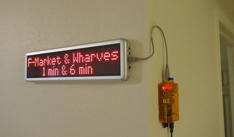 SF Muni LED Sign at Home with Raspberry Pi - post in A Foo walks into a Bar... - blog by Pavel Shved - coldattic.info   pervasive computing   Scoop.it