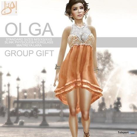 Olga Dress Group Gift by !gO! | Teleport Hub - Second Life Freebies | Second Life Freebies | Scoop.it