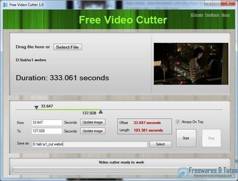 Free Video Cutter : un logiciel de découpe des vidéos | Time to Learn | Scoop.it