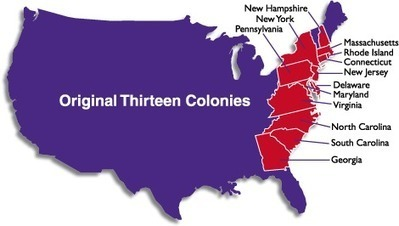 Original Thirteen Colonies | American Civics | Scoop.it