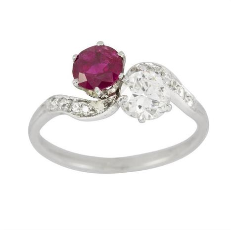 A diamond and ruby cross-over ring - Bentley & Skinner | Bentley And Skinner | Scoop.it