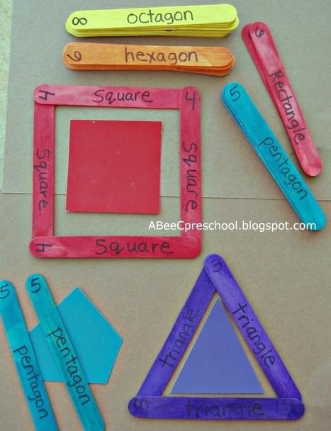 Geometría con palitos de helado - Aprendiendo matemáticas   Actividades Matemática   Scoop.it