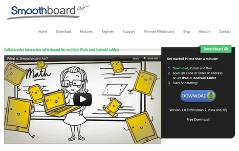 Smoothboard Air - a collaborative whiteboard for iPads and Android tablets | iPad technology integration | Scoop.it