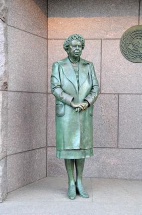 Eleanor Roosevelt – FDR Memorial | StationStart.com | women statues | Scoop.it