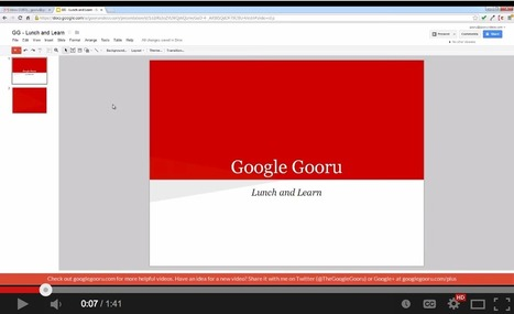 6 Video Tutorials to Help Teachers Use Google Presentation in Class | Docentes:  ¿Inmigrantes o peregrinos digitales? | Scoop.it