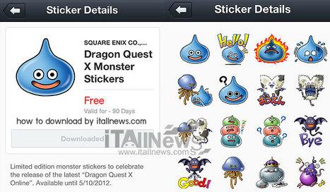 "Line Sticker ""Dragon Quest Monsters"" วิธีดาวน์โหลด Line สติ๊กเกอร์ดราก้อนเควสจากญี่ปุ่น : ฟรี | blacksabbath | Scoop.it"