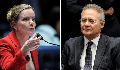 Gleisi e PT rebatem Renan: não fez favor algum | EVS NOTÍCIAS... | Scoop.it