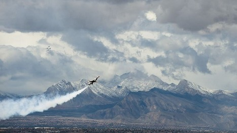 U.S. Air Force Thunderbirds perform their demonstration in preparation for the commander of Air Combat Command at Nellis Air Force Base. | Military Wives | Scoop.it