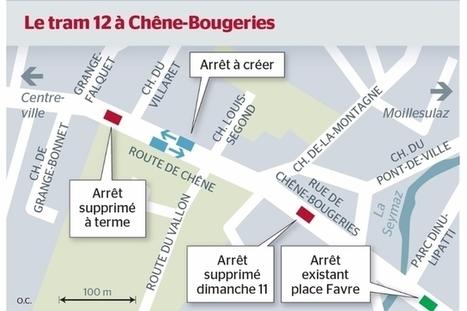 L'abolition d'un arrêt de tram irrite Chêne-Bougeries | SNOTPG - Site Non Officiel des tpg | Scoop.it