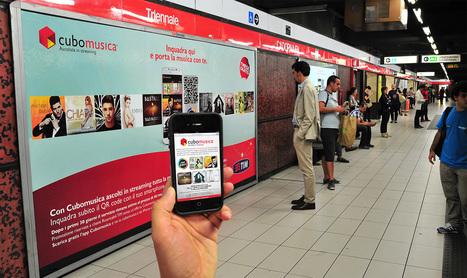 QR e la campagna interattiva di TIM Cubomusica e Cubolibri . Musica e Libri  nella metropolitana di Milano | libri | Scoop.it