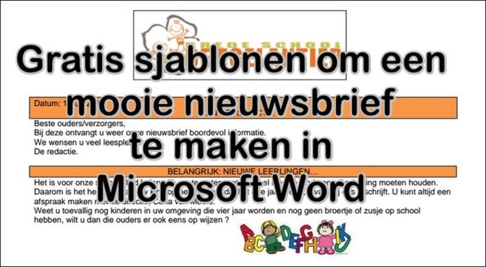 Edu-Curator: Gratis Microsoft Word sjablonen om een mooie nieuwsbrief te maken   Edu-Curator   Scoop.it