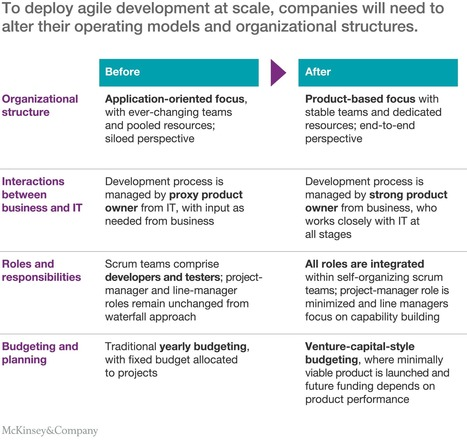 An operating model for company-wide agile development | McKinsey & Company | #Sogeti #Agile | Scoop.it