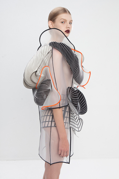 Noa Raviv uses grid patterns and 3D printing in fashion collection | Scan2Shop | Scoop.it
