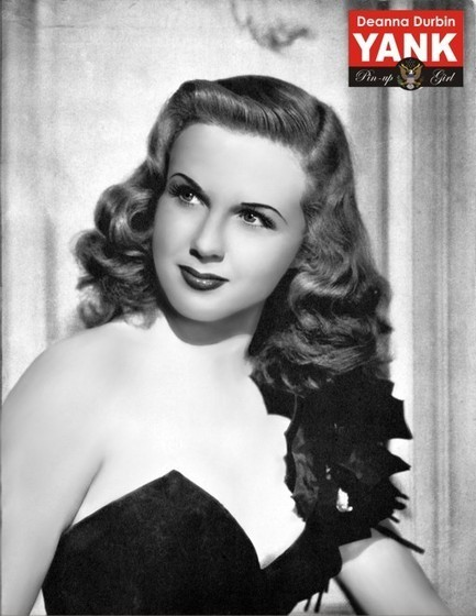 Deanna Durbin Yank Pin Up Girl - January 19, 1945 - WWII Dog Tags | WW2 Bomber - Nose Art | Scoop.it