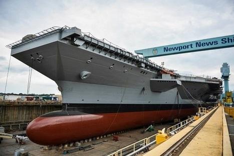Des essais à quai de sous-systèmes pour catapulte électromagnétique EMALs ont débuté sur le Gerald R. Ford (CVN 78)   Veille Domaine Naval   Scoop.it