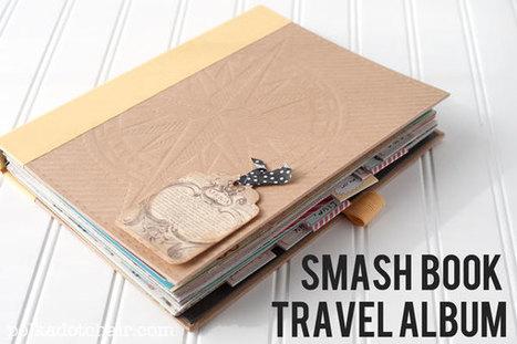 Smash Book Travel Album - The Polka Dot Chair | PréoccuPassions | Scoop.it