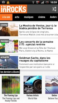 [Test] Les inRocKs : applicationAndroid | Musique sous Android | Scoop.it