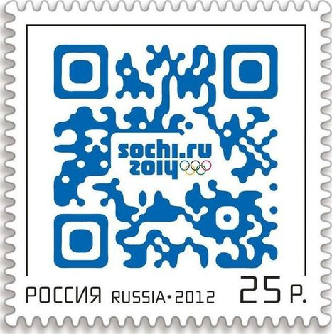 Russia's First QR Code Postage Stamp - 2d-code | QR code & Higher Education | Scoop.it