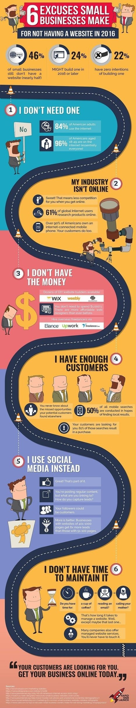 Six Excuses Small Businesses Make for Not Having a Website #Infographic | Communication pour TPE - PME | Scoop.it