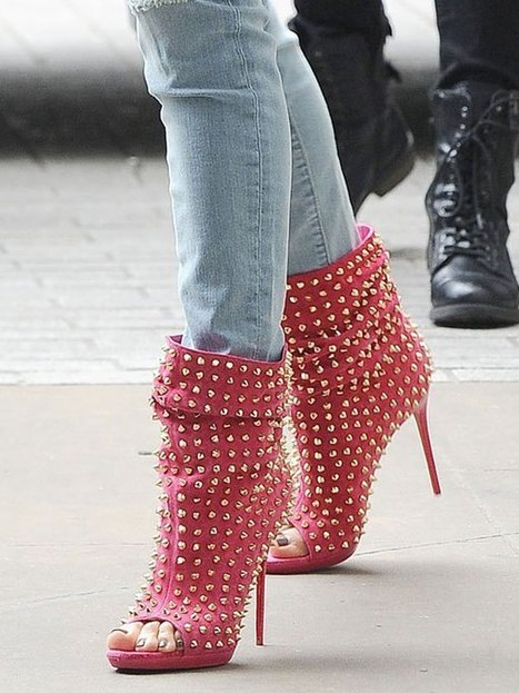 Jennifer Lopez Steps Out In Style In $1995 Studded Hot Pink Booties - Hollywood Life | Top Shoes | Scoop.it