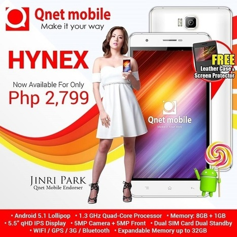 Qnet Mobile Hynex: Android 5.1 Lollipop, quad-core CPU, 5.5-inch qHD IPS LCD, Php2,799 | NoypiGeeks | Philippines' Technology News, Reviews, and How to's | Gadget Reviews | Scoop.it
