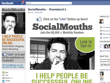 How To Build A Facebook Landing Page With iFrames — socialmouths | Technologies for Small Business | Scoop.it