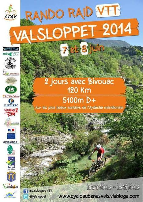 Samedi 7 et dimanche 8 juin : Rando Raid Vtt de la VALSLOPPET | C'est déjà le week-end ! | Scoop.it