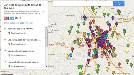 Carte des circuits courts autour de Toulouse   Les cartes des Alternatives - Géographie de la transition   Scoop.it