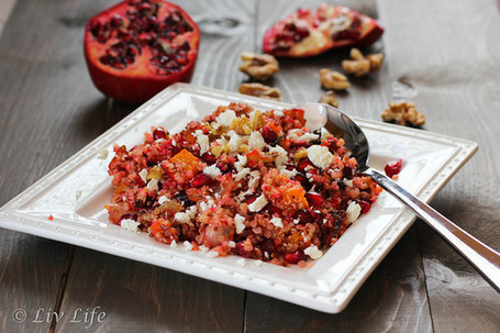 Liv Life: Butternut Squash and Beet Quinoa Salad | À Catanada na Cozinha Magazine | Scoop.it